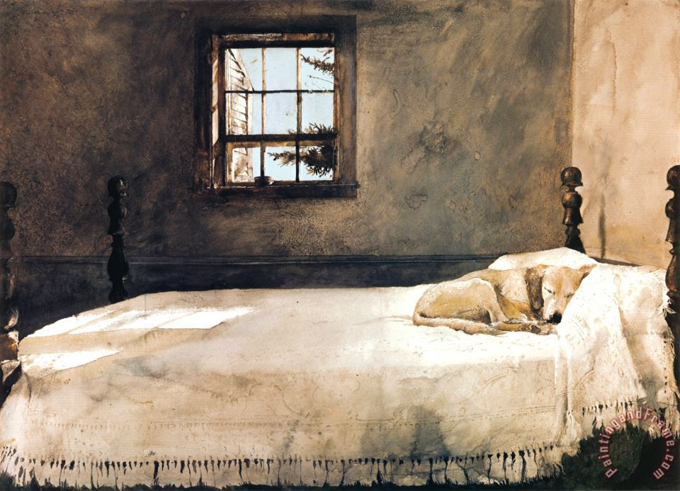 Master Bedroom painting - andrew wyeth Master Bedroom Art Print