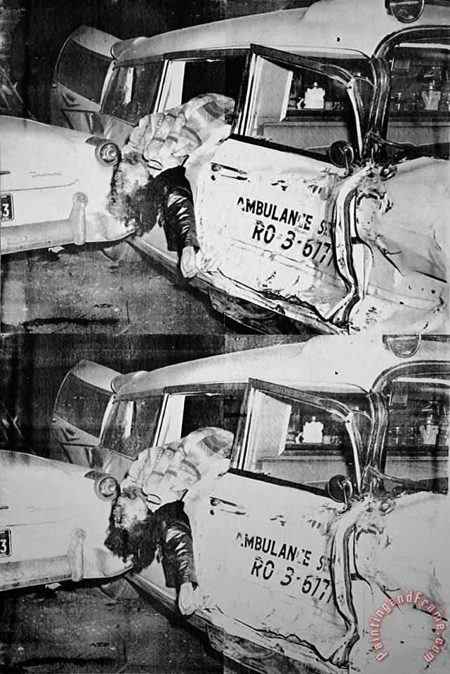Ambulance Disaster C 1964 painting - Andy Warhol Ambulance Disaster C 1964 Art Print