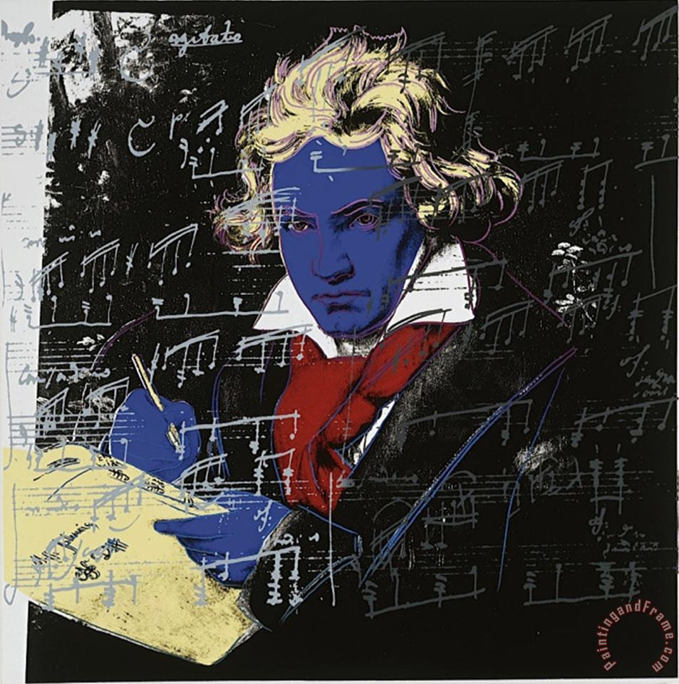 Andy Warhol Beethoven C 1987 Blue Face Art Print