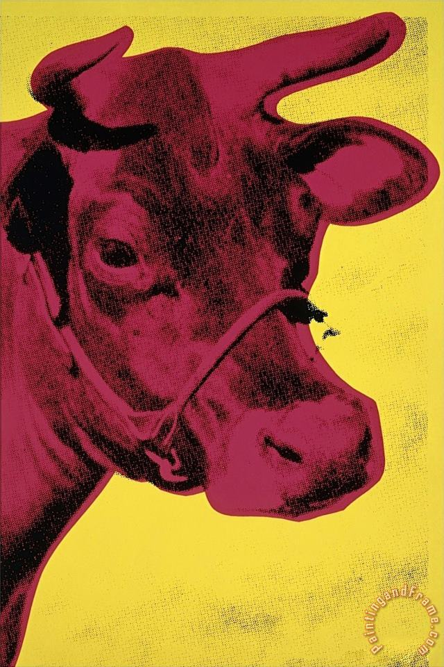 Cow C 1966 Yellow And Pink painting - Andy Warhol Cow C 1966 Yellow And Pink Art Print