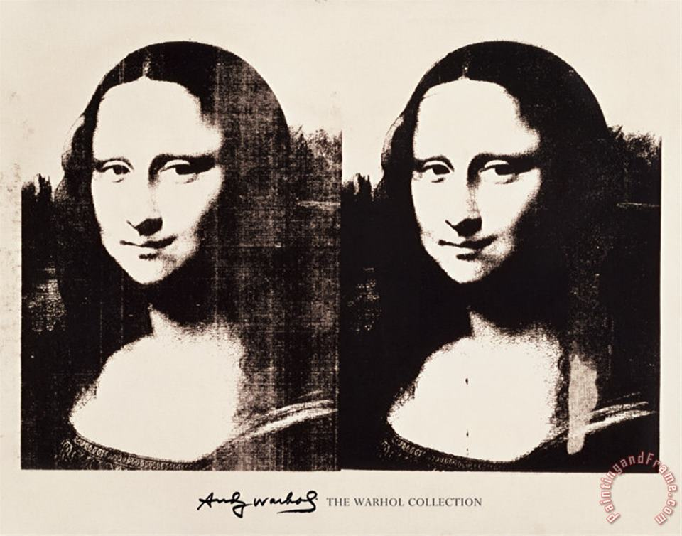 Andy Warhol Double Mona Lisa 1963 Art Painting