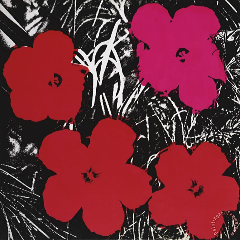 Flowers Red And Pink C 1964 painting - Andy Warhol Flowers Red And Pink C 1964 Art Print