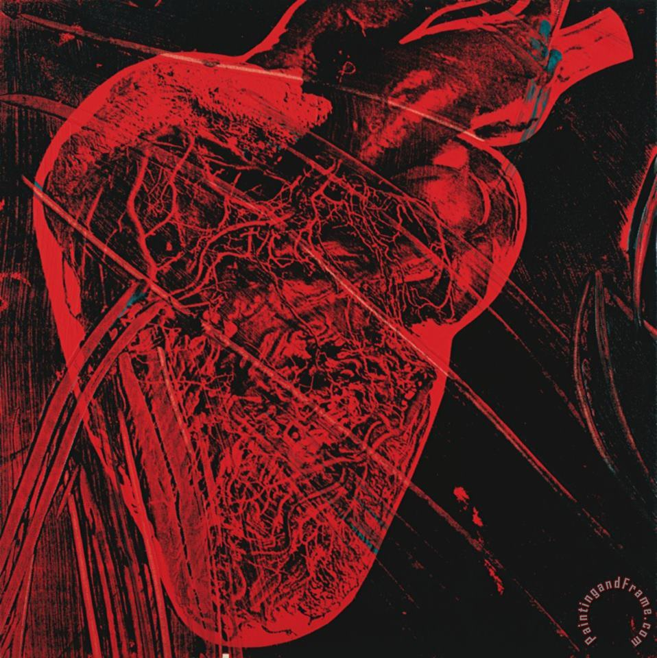 Andy Warhol Human Heart C 1979 Red with Veins Art Painting