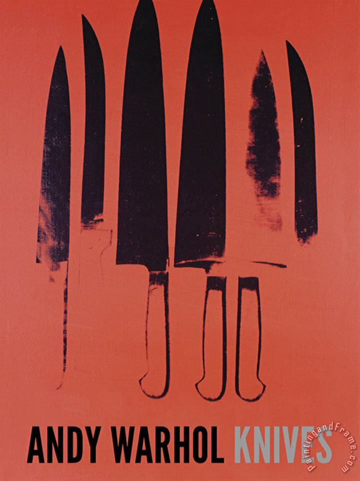 Andy Warhol Knives C 1981 82 Red Art Print