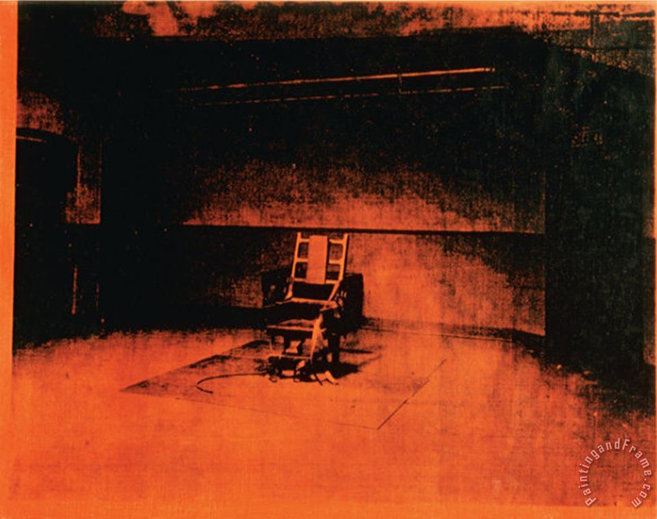 Little Electric Chair C 1965 painting - Andy Warhol Little Electric Chair C 1965 Art Print