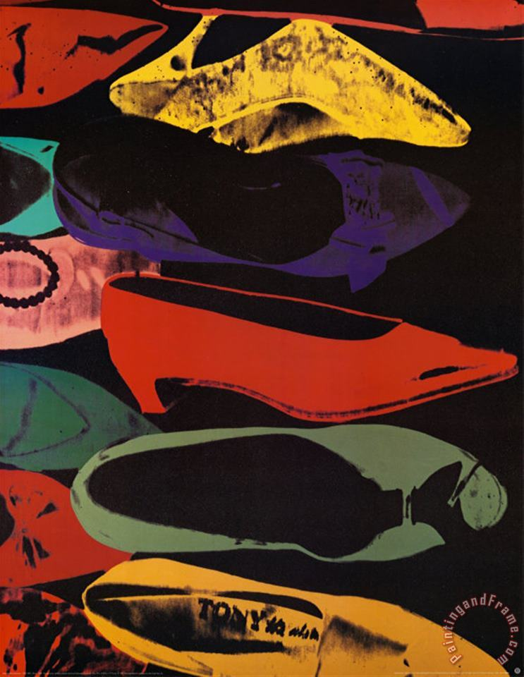 Shoes 1980 painting - Andy Warhol Shoes 1980 Art Print