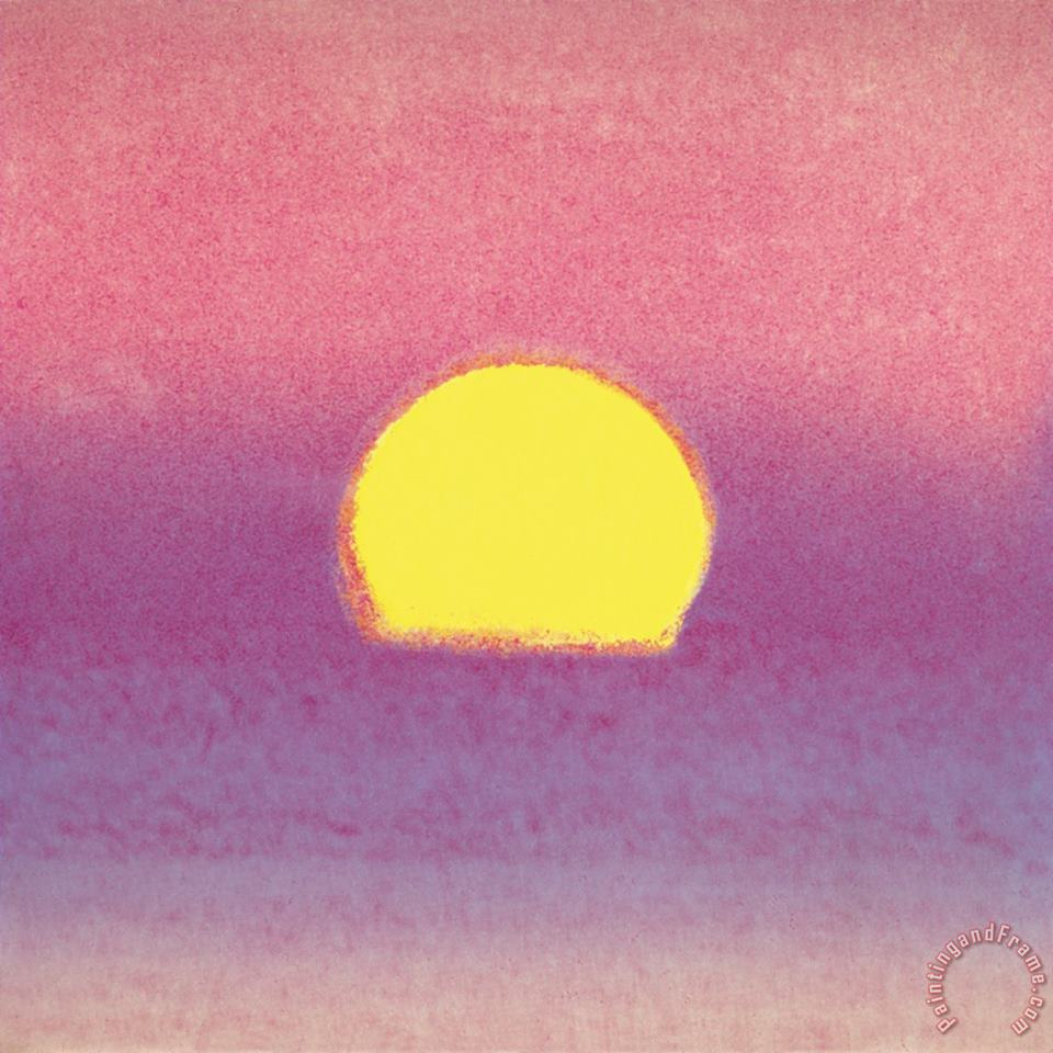 Sunset C 1972 40 40 Lavender painting - Andy Warhol Sunset C 1972 40 40 Lavender Art Print