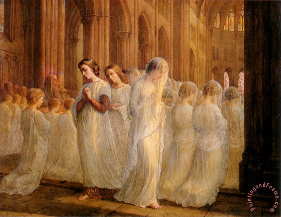 The Poem of The Soul First Communion painting - Anne Francois Louis Janmot The Poem of The Soul First Communion Art Print
