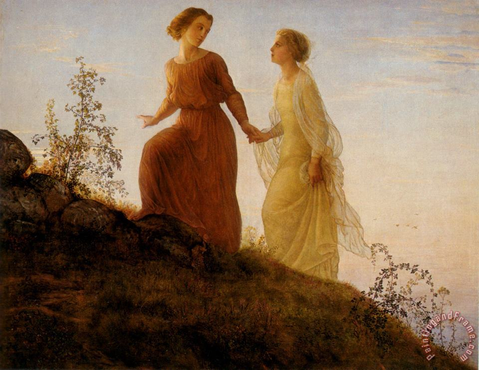 The Poem of The Soul on The Mountain painting - Anne Francois Louis Janmot The Poem of The Soul on The Mountain Art Print