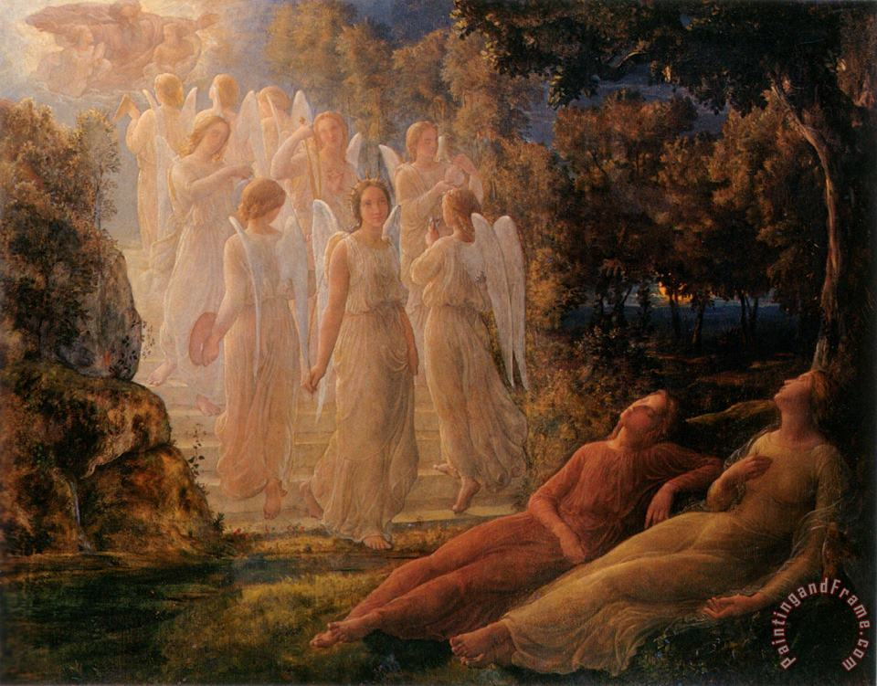 Anne Francois Louis Janmot The Poem of The Soul The Golden Ladder Art Painting