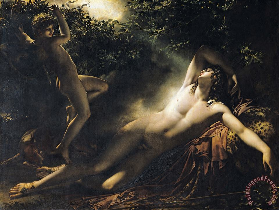 The Sleep of Endymion painting - Anne Louis Girodet de RoucyTrioson The Sleep of Endymion Art Print