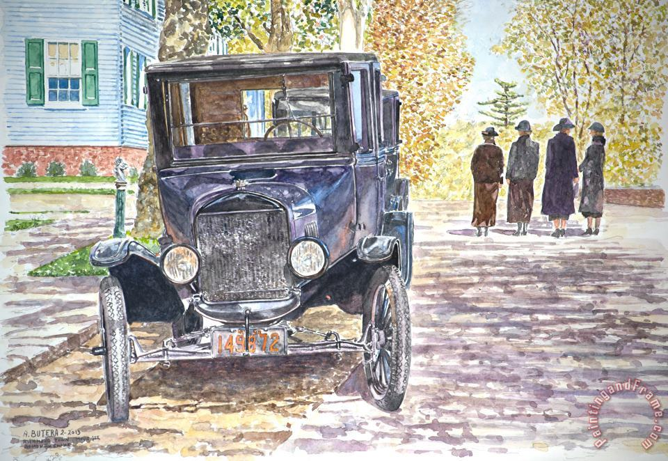 Anthony Butera Vintage Car Richmondtown Art Print