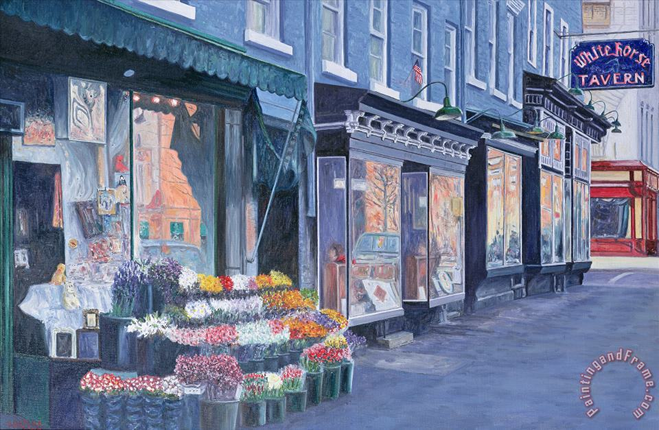 White Horse Tavern Hudson Street West Village painting - Anthony Butera White Horse Tavern Hudson Street West Village Art Print