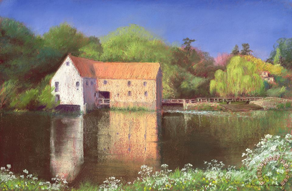 Springtime at the Mill painting - Anthony Rule Springtime at the Mill Art Print