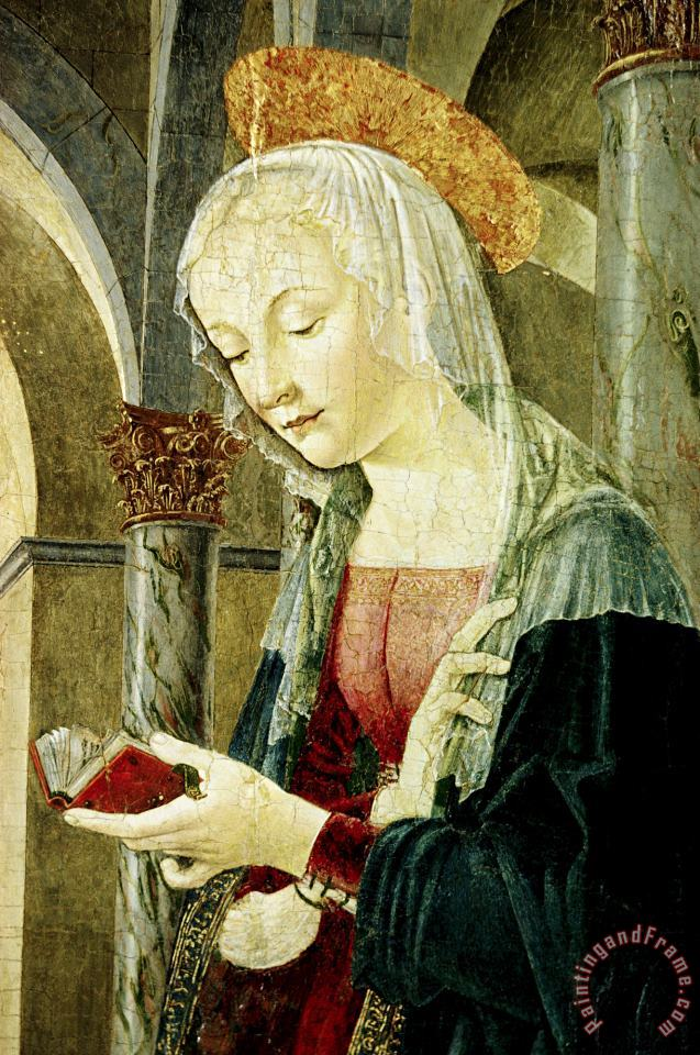 Antoniazzo Romano Detail of The Virgin Mary From The Annunciation Art Painting