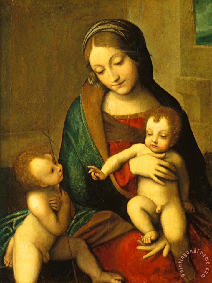 Madonna And Child With The Infant Saint John painting - Antonio Allegri Correggio Madonna And Child With The Infant Saint John Art Print