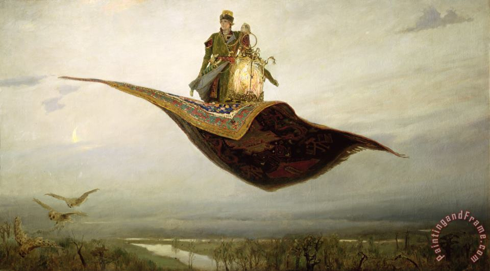 The Magic Carpet painting - Apollinari Mikhailovich Vasnetsov The Magic Carpet Art Print