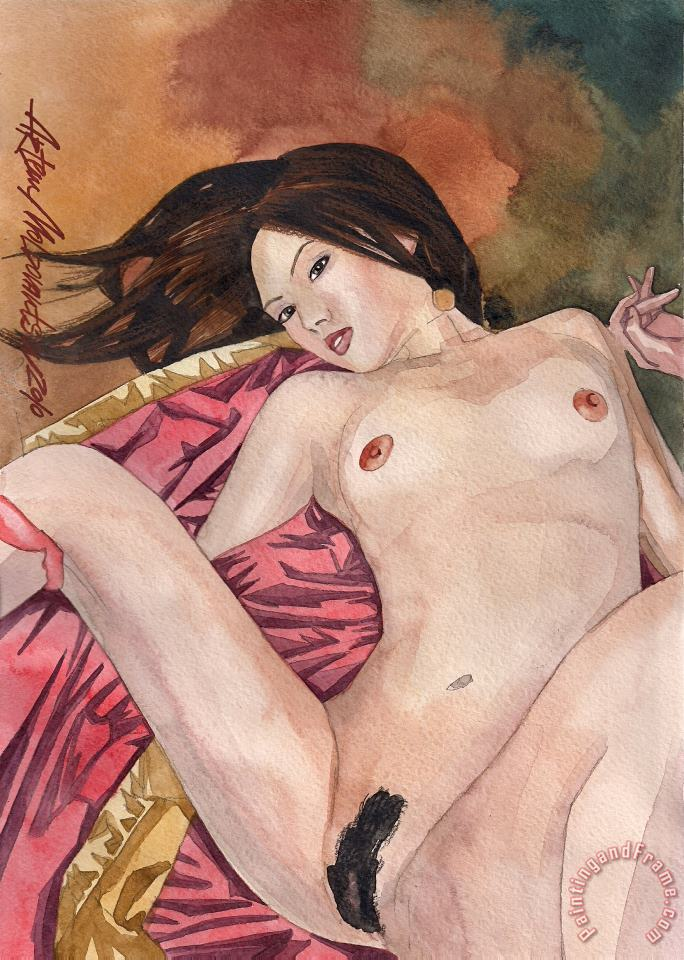 Asian Nude painting - Artem Moldovantsev Asian Nude Art Print