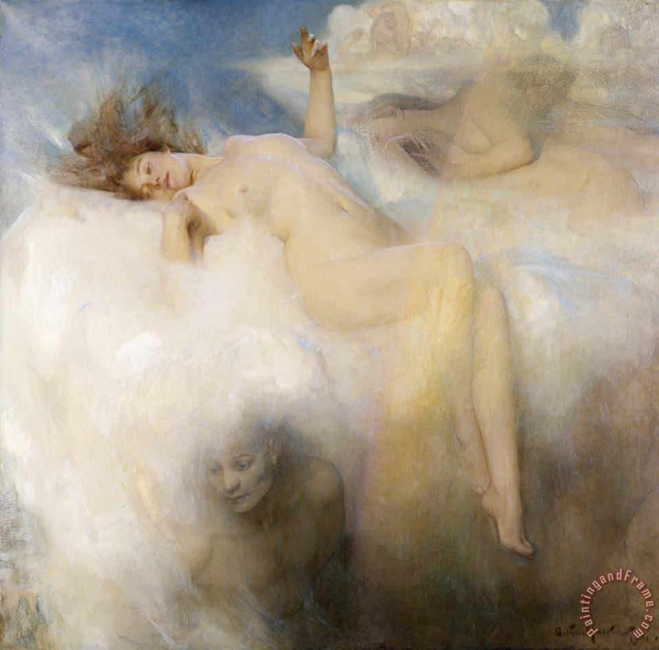 The Cloud painting - Arthur Hacker The Cloud Art Print