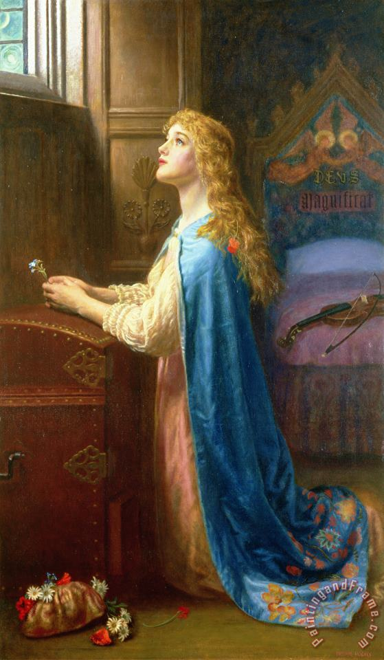 'Forget me Not' painting - Arthur Hughes 'Forget me Not' Art Print