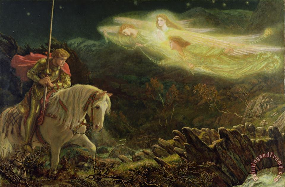 Quest for the Holy Grail painting - Arthur Hughes Quest for the Holy Grail Art Print