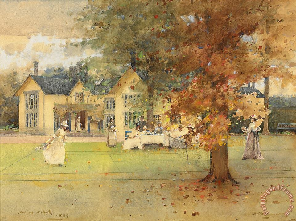 The Lawn Tennis Party painting - Arthur Melville The Lawn Tennis Party Art Print