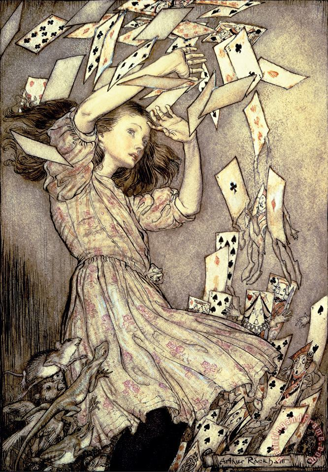 Adventures in Wonderland painting - Arthur Rackham Adventures in Wonderland Art Print
