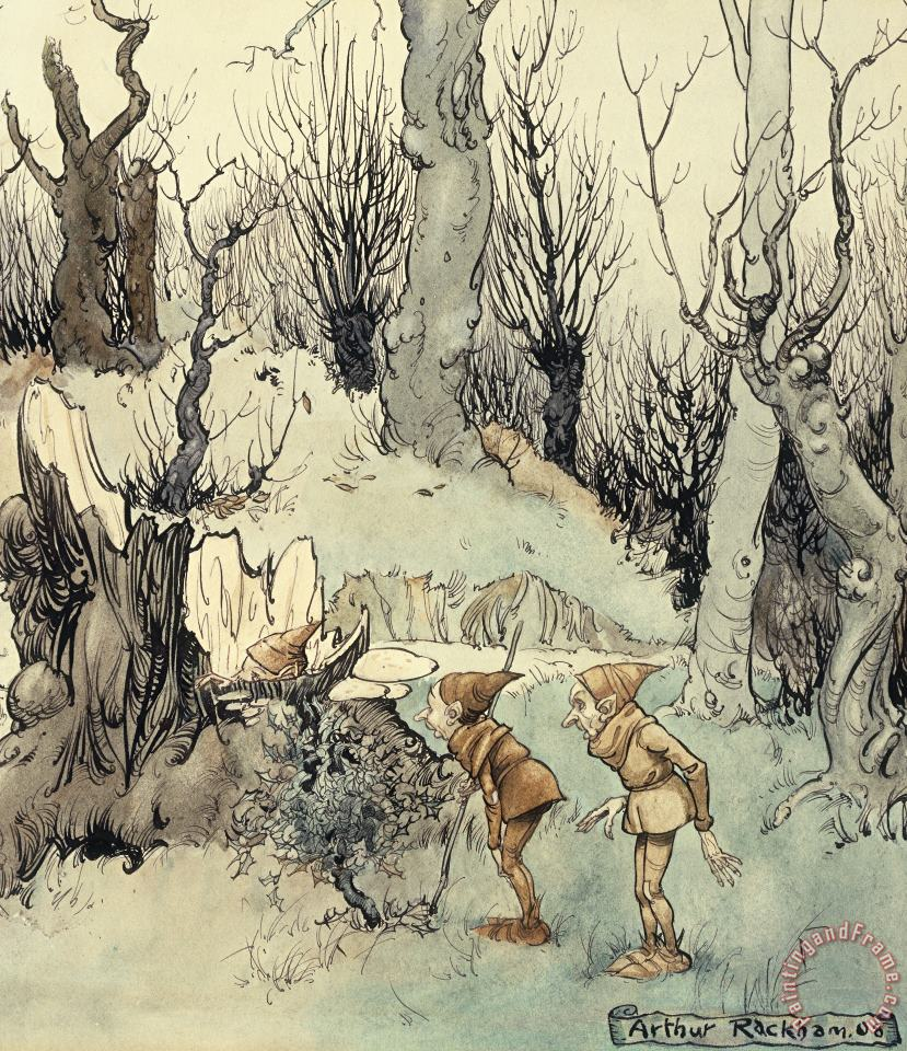 Arthur Rackham Elves In A Wood Art Painting