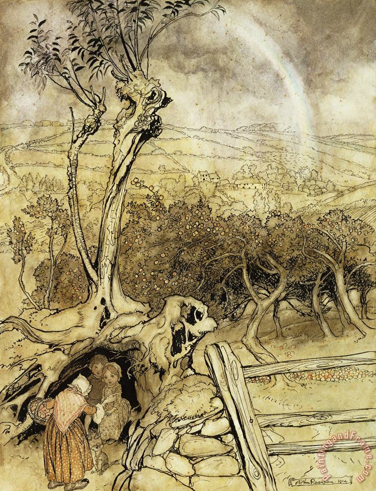 Arthur Rackham So Nobody Can Quite Explain Exactly Where The Rainbows End Art Print