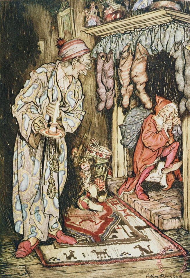 The Night Before Christmas painting - Arthur Rackham The Night Before Christmas Art Print