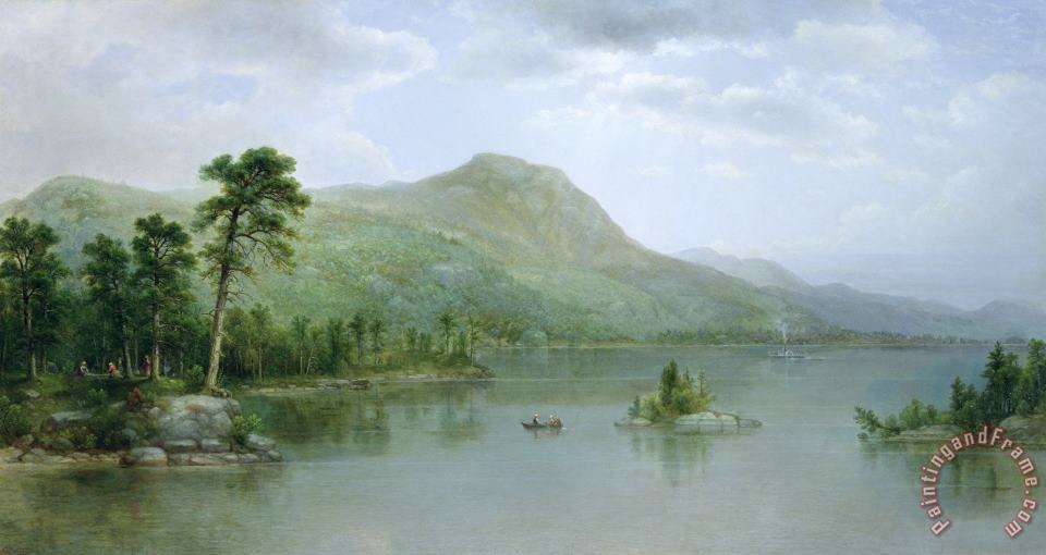 Asher Brown Durand Black Mountain from the Harbor Islands - Lake George Art Print