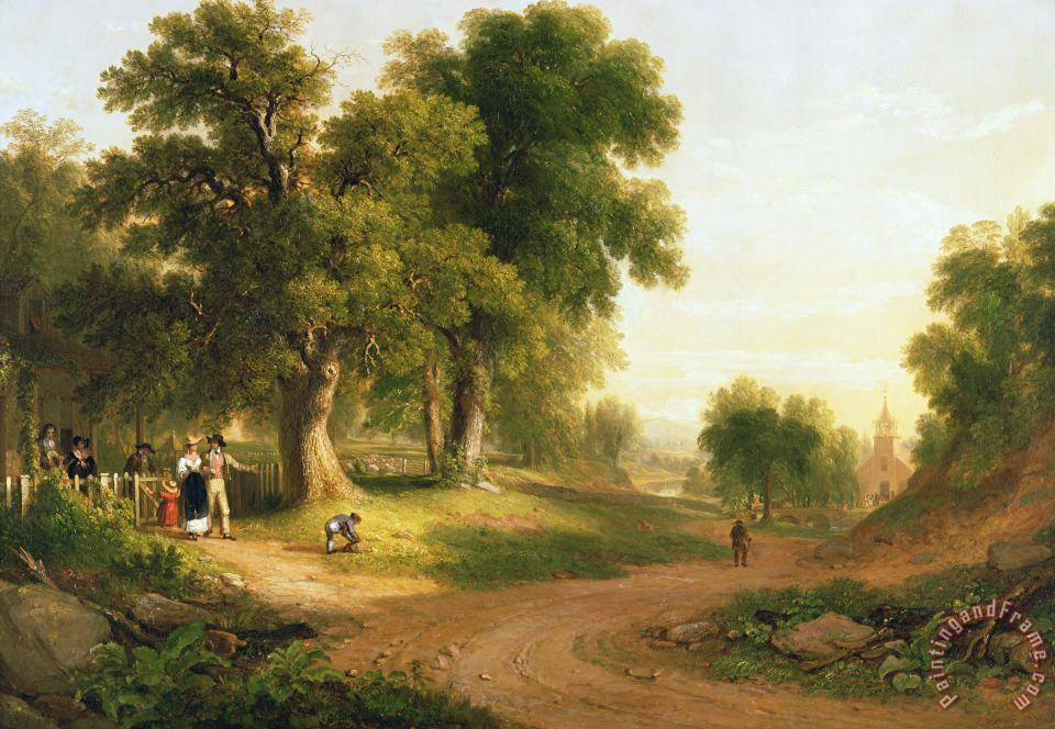 Sunday Morning painting - Asher Brown Durand Sunday Morning Art Print