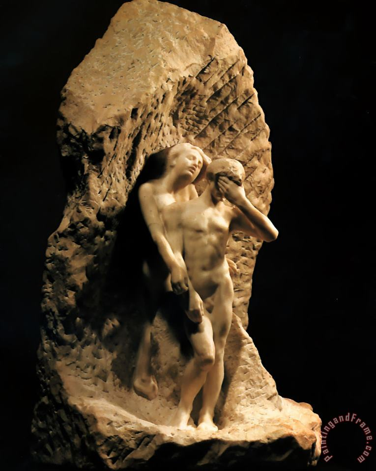 Adam And Eve Expelled From Paradise painting - Auguste Rodin Adam And Eve Expelled From Paradise Art Print