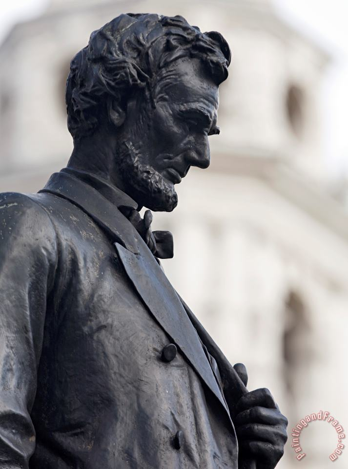 Detail of Abraham Lincoln painting - Augustus Saint-Gaudens Detail of Abraham Lincoln Art Print