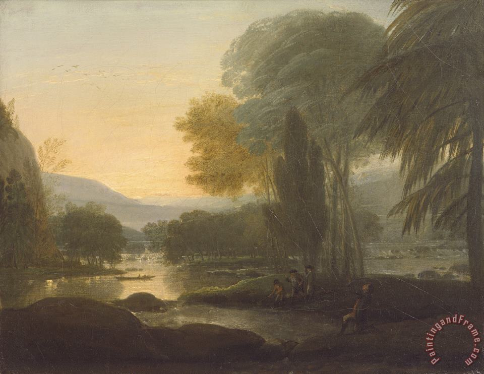 A View on The Susquehanna River painting - Benjamin West A View on The Susquehanna River Art Print