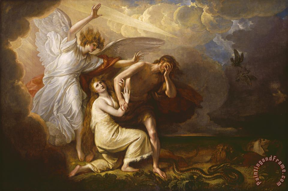 The Expulsion of Adam And Eve From Paradise painting - Benjamin West The Expulsion of Adam And Eve From Paradise Art Print