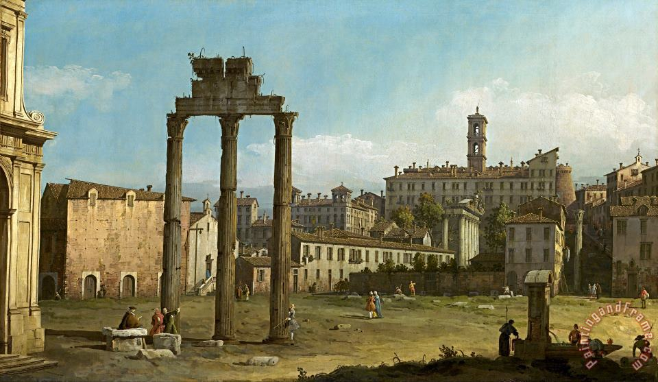Ruins of The Forum, Rome painting - Bernardo Bellotto Ruins of The Forum, Rome Art Print