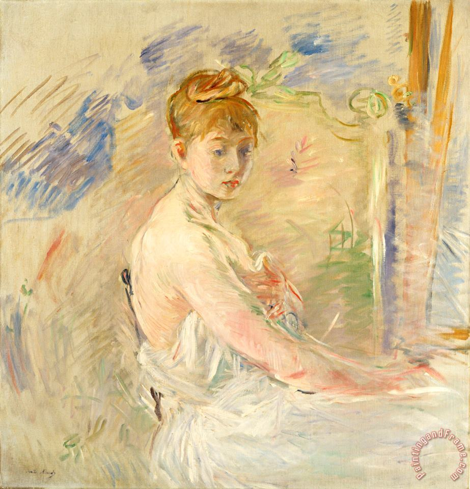 Berthe Morisot Young Girl Getting Up Art Painting
