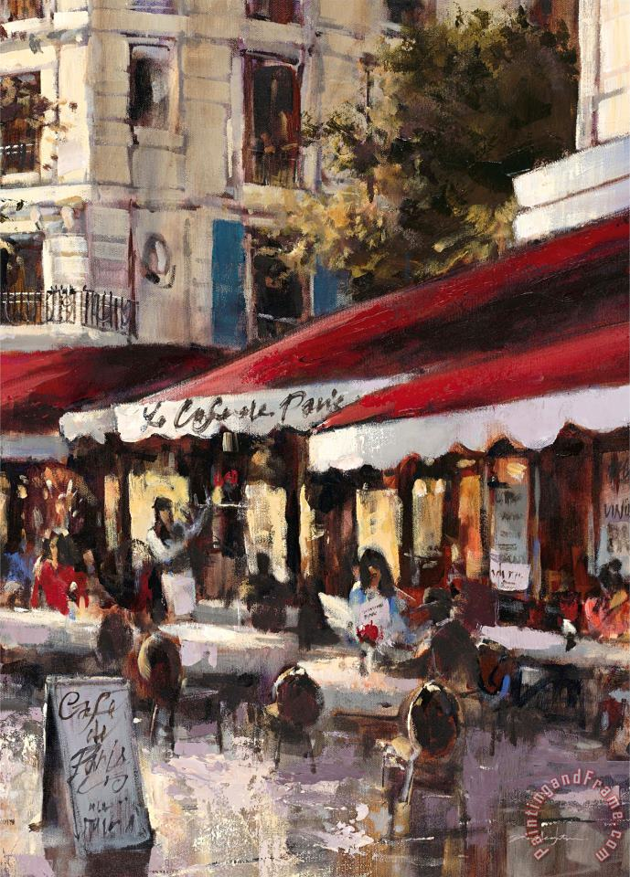 Avenue Des Champs Elysees 2 painting - brent heighton Avenue Des Champs Elysees 2 Art Print