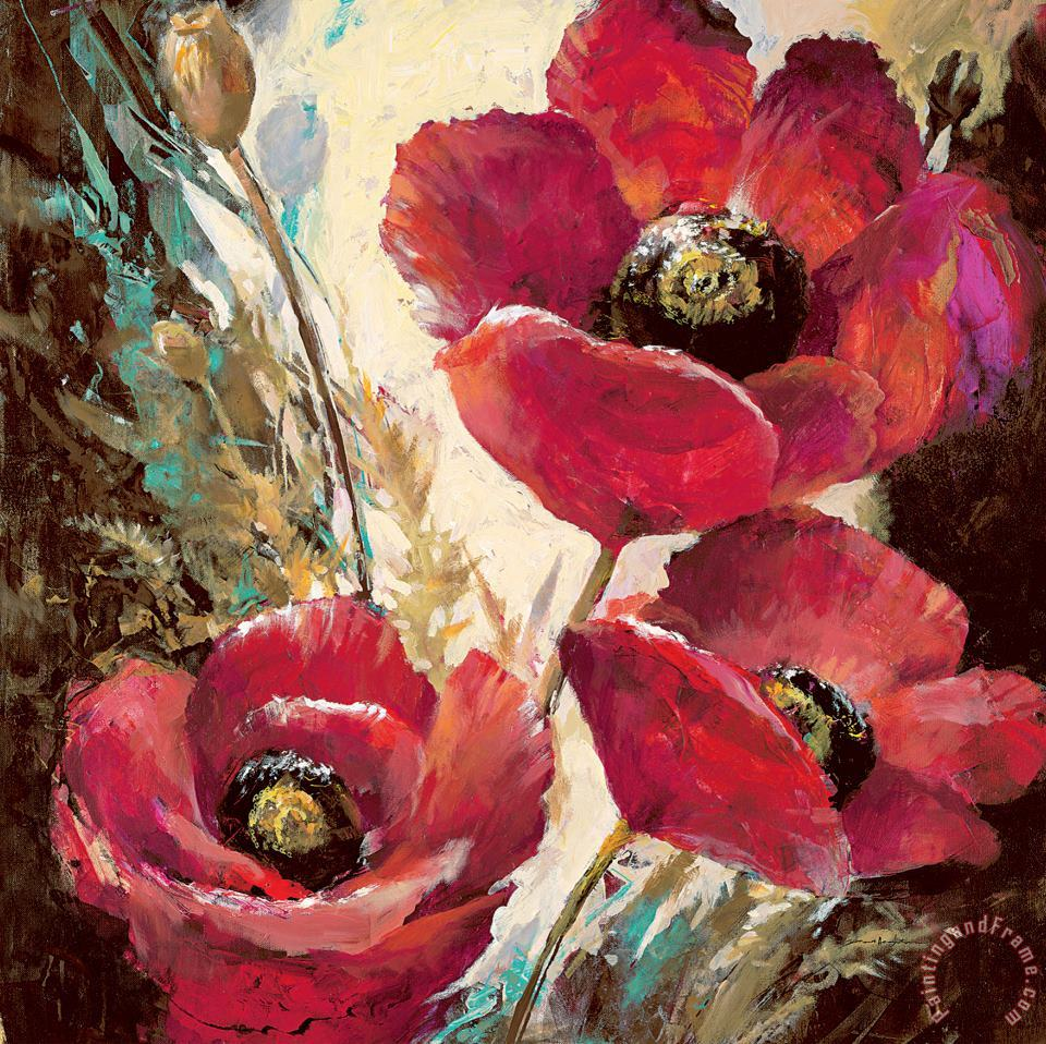 Influential Poppy painting - brent heighton Influential Poppy Art Print