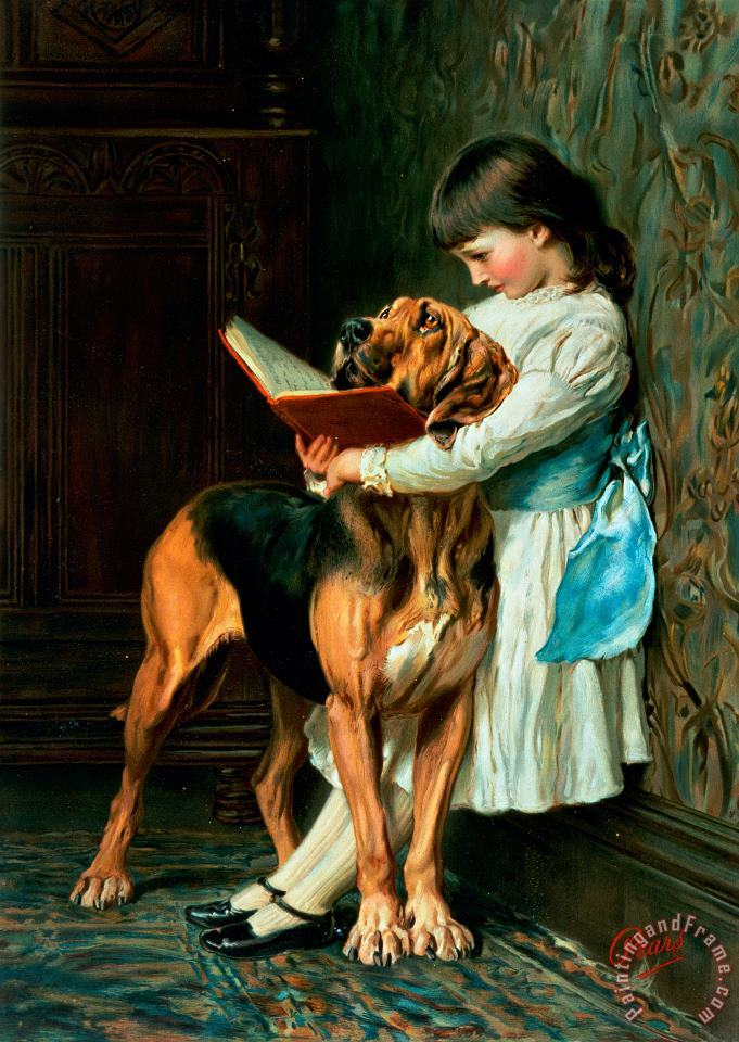 Naughty Boy or Compulsory Education painting - Briton Riviere Naughty Boy or Compulsory Education Art Print
