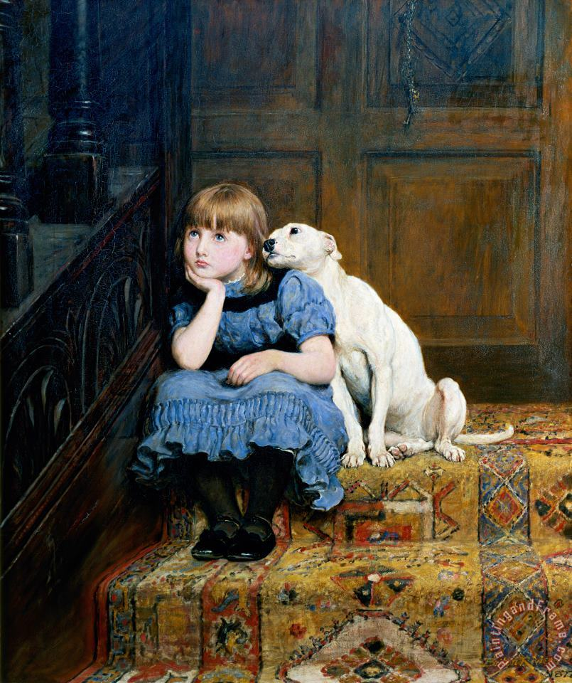 Briton Riviere Sympathy Art Painting