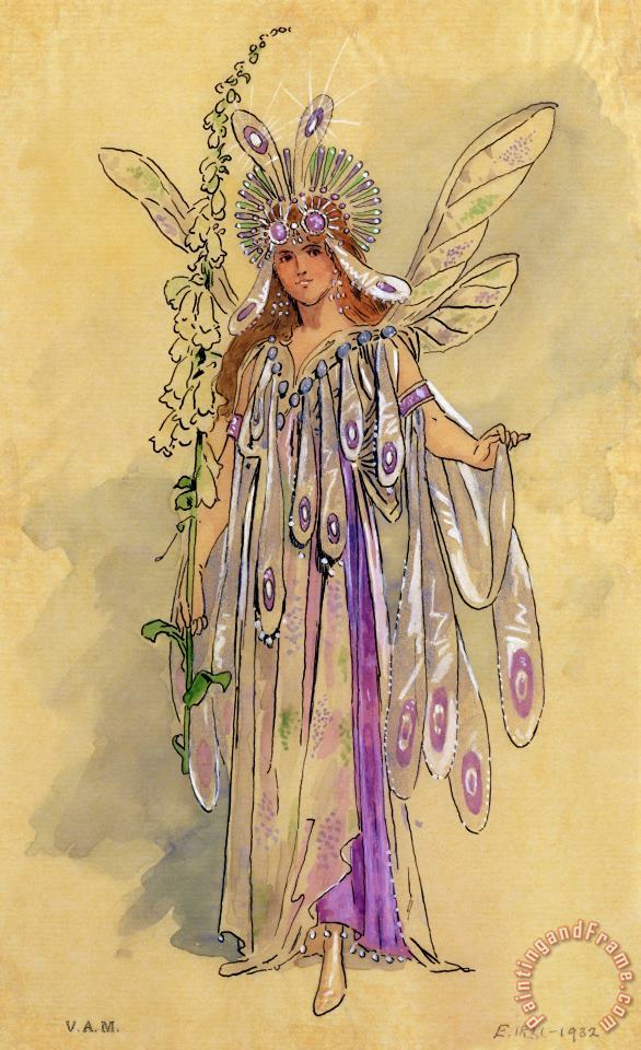 C Wilhelm Titania Queen of the Fairies A Midsummer Night's Dream Art Print