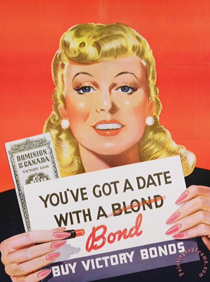 Canadian School You Ve Got A Date With A Bond Poster Advertising Victory Bonds Art Print