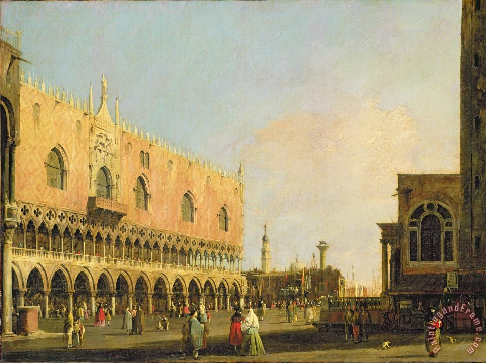 Canaletto View of the Piazzetta San Marco Looking South Art Print