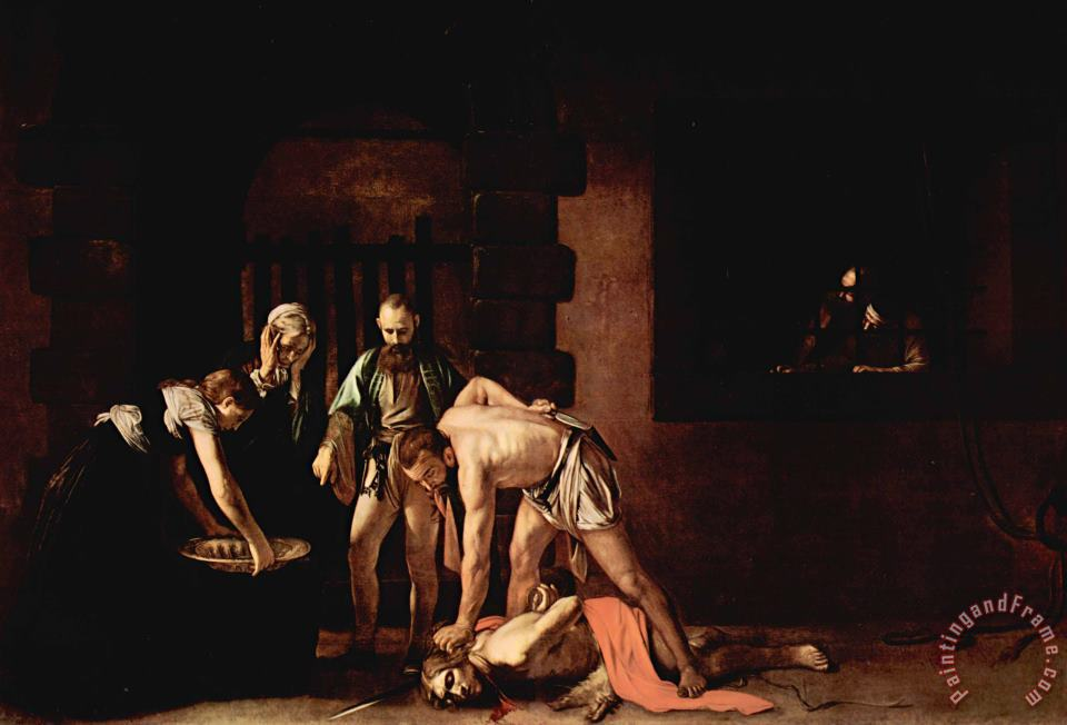 The Beheading of St. John The Baptist painting - Caravaggio The Beheading of St. John The Baptist Art Print