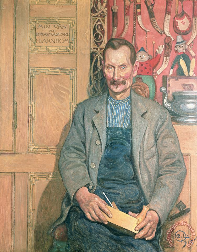 Hans Arnbom The Carpenter painting - Carl Larsson Hans Arnbom The Carpenter Art Print