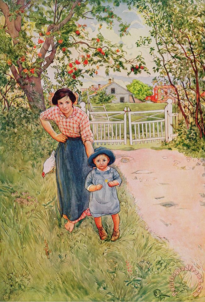 Say A Nice How Do You Do To Your Uncle painting - Carl Larsson Say A Nice How Do You Do To Your Uncle Art Print