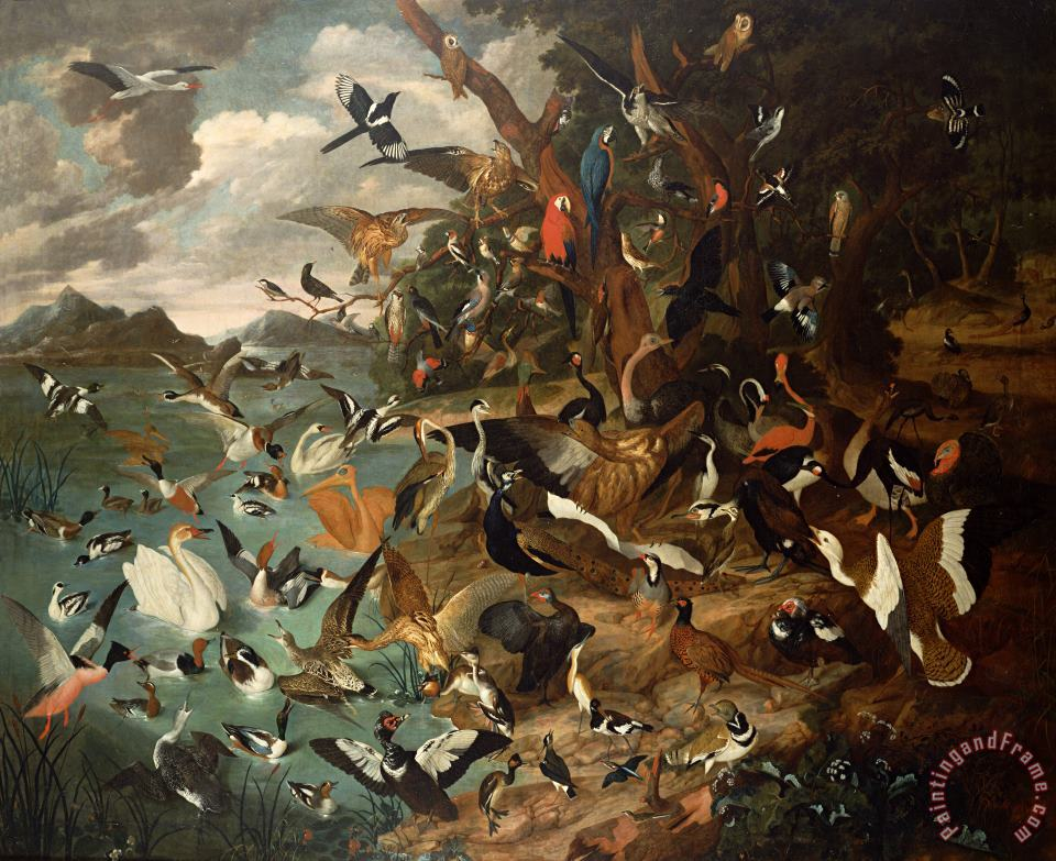 Carl Wilhelm de Hamilton The Parliament of Birds Art Painting