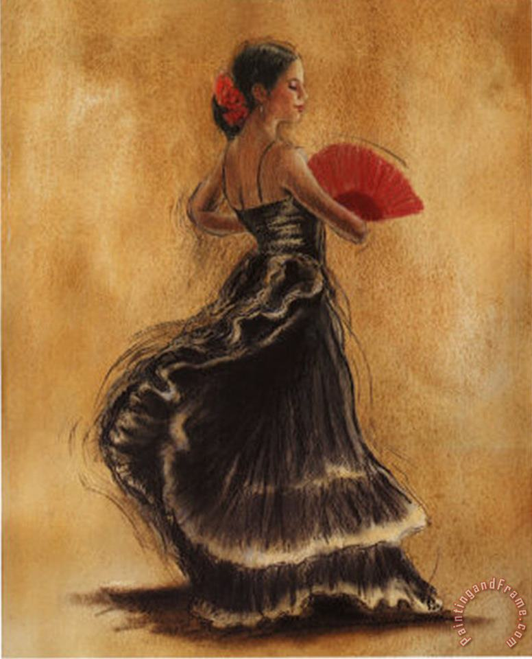 Caroline Gold Flamenco Dancer II Art Painting